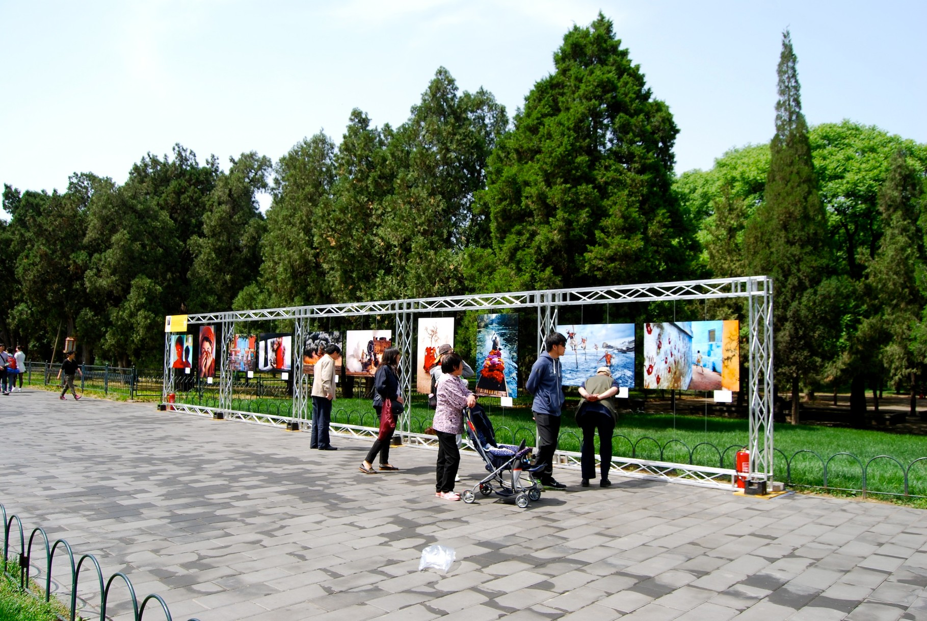 Fotoausstellung im Park des Himmlischen Tempels
