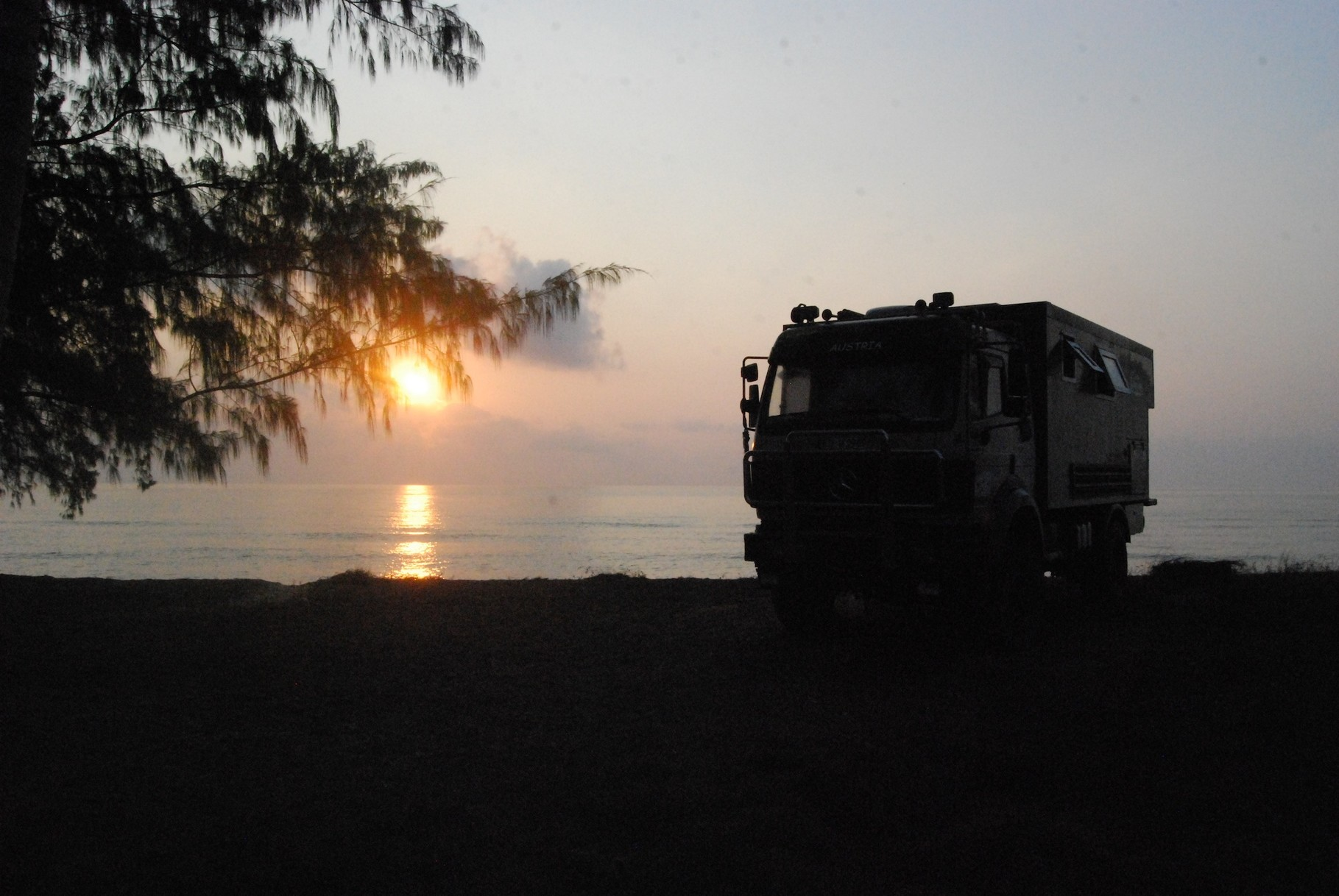 Sonnenuntergang in Ban Krut