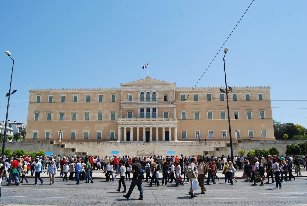 Demo vor dem Parlament