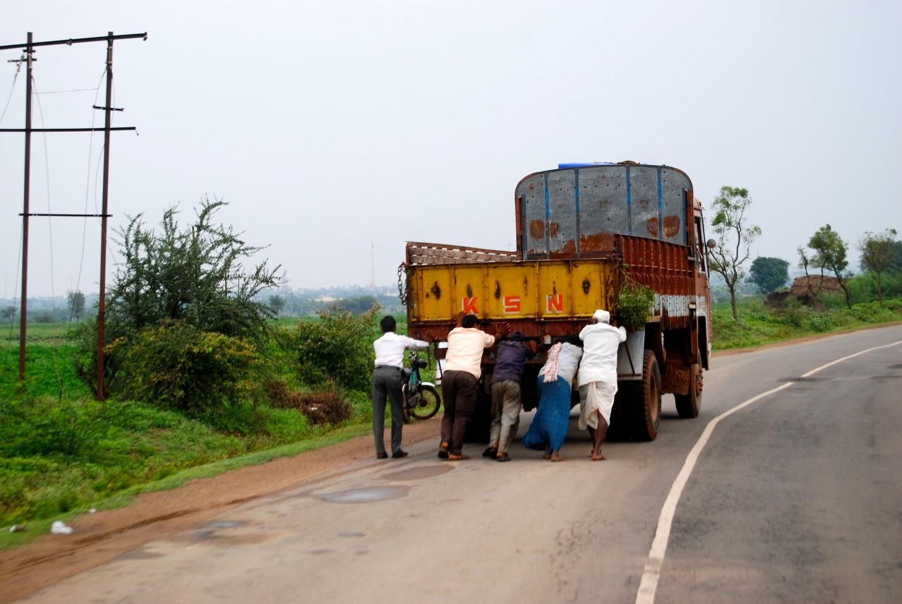 Abschleppdienst á la India