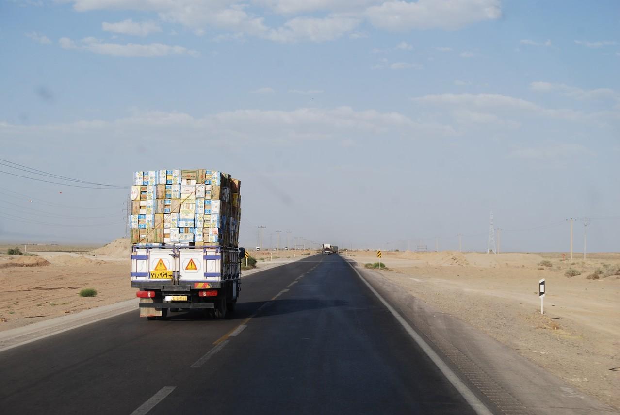 Ladungssicherung in der Wüste