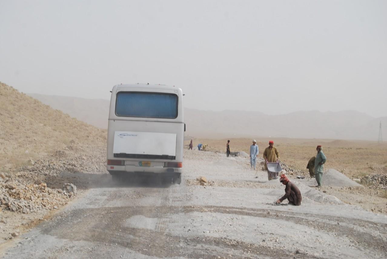 Straßenbau auf Pakistani