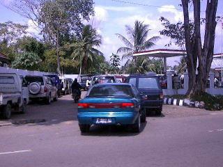 ジャンビのガソリンスタンド