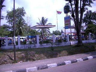 ジャンビ市内のガソリンスタンド