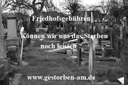 Friedhofgebühren Deutschland