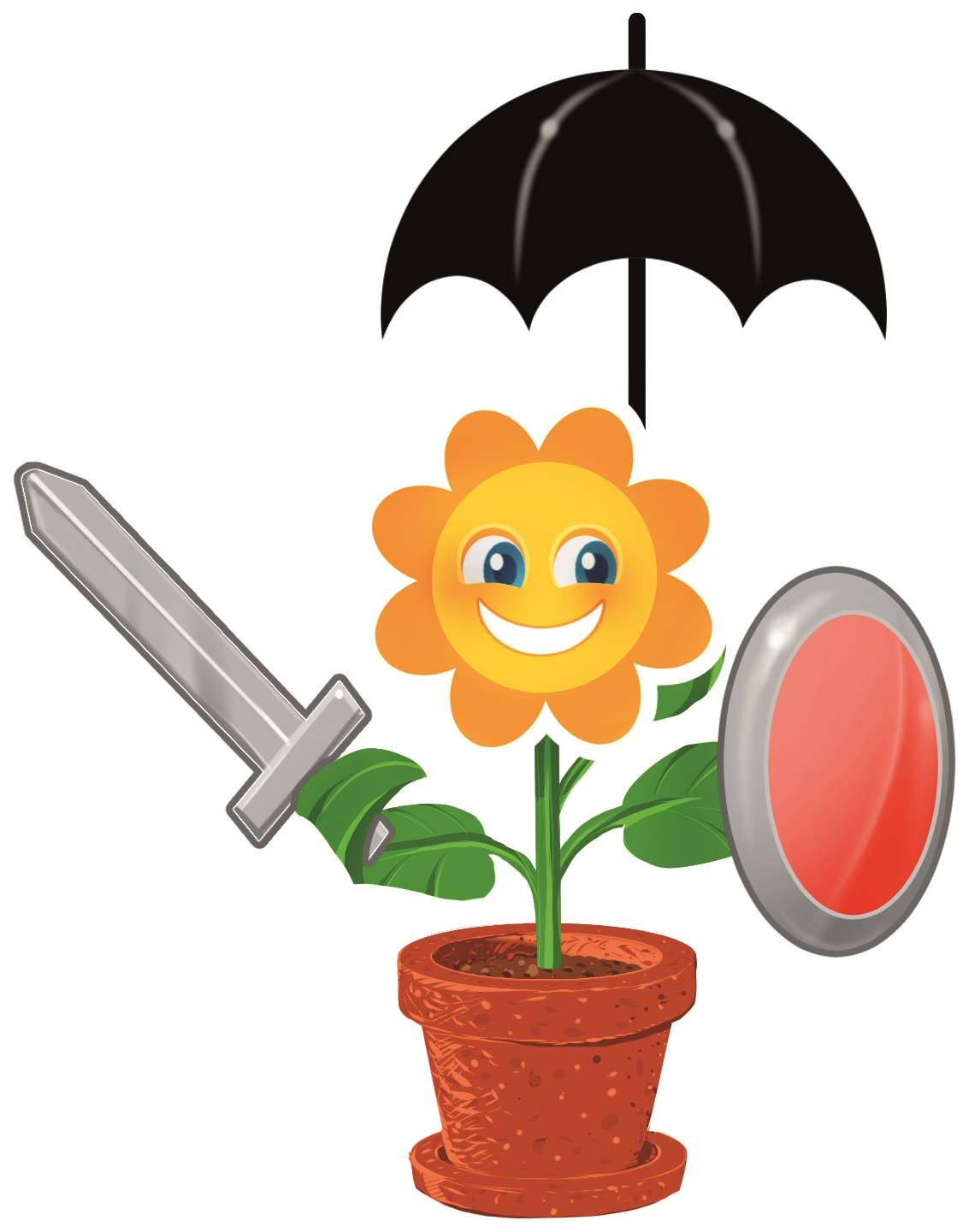 1.) Every plant in nature has protective mechanisms that protect its cells from attack by pathogens.