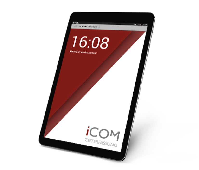 iCOM tablet mit QR Codes