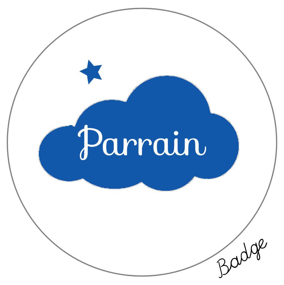 Pack cadeaux baptême parrain -badge-