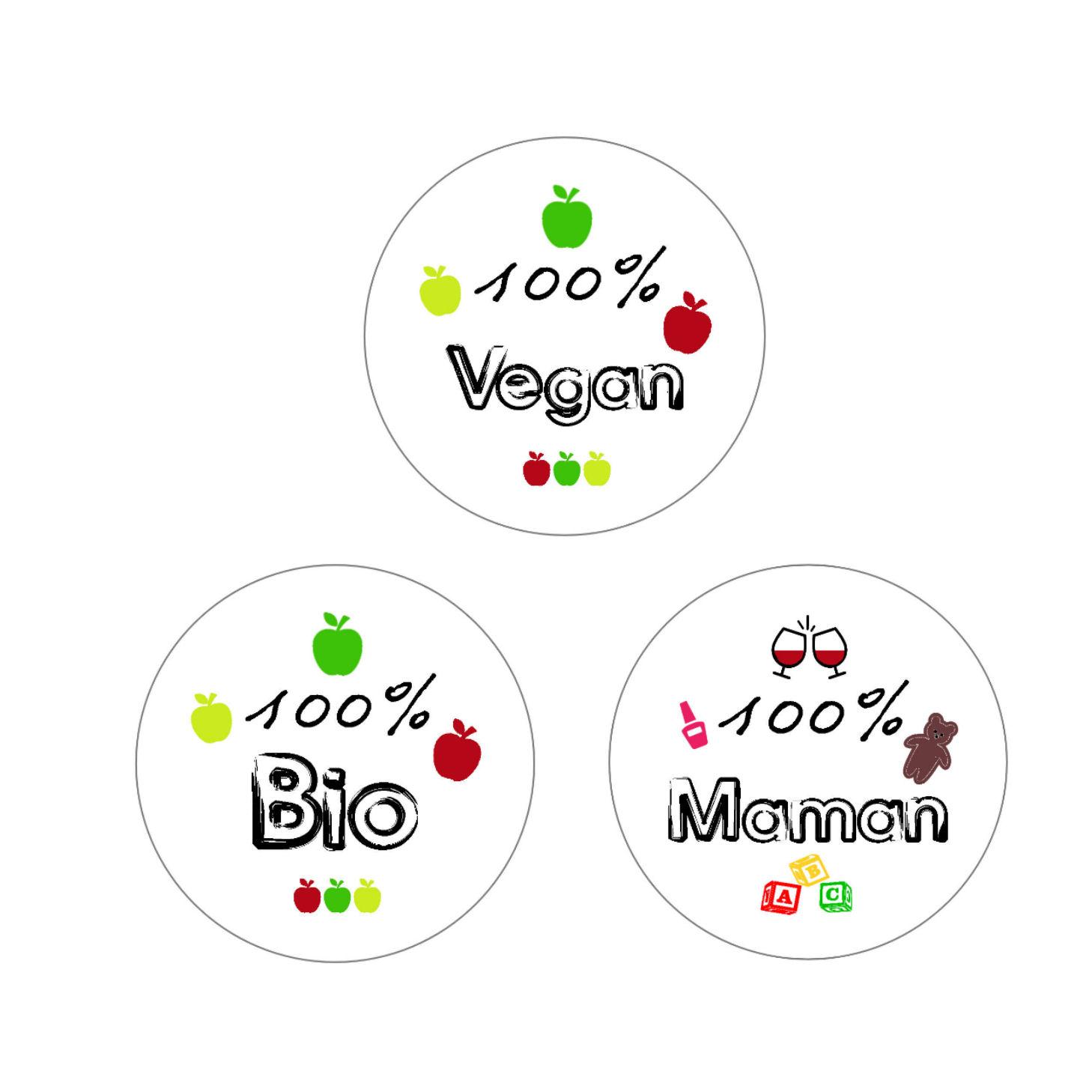 "Badges ""100%..."""