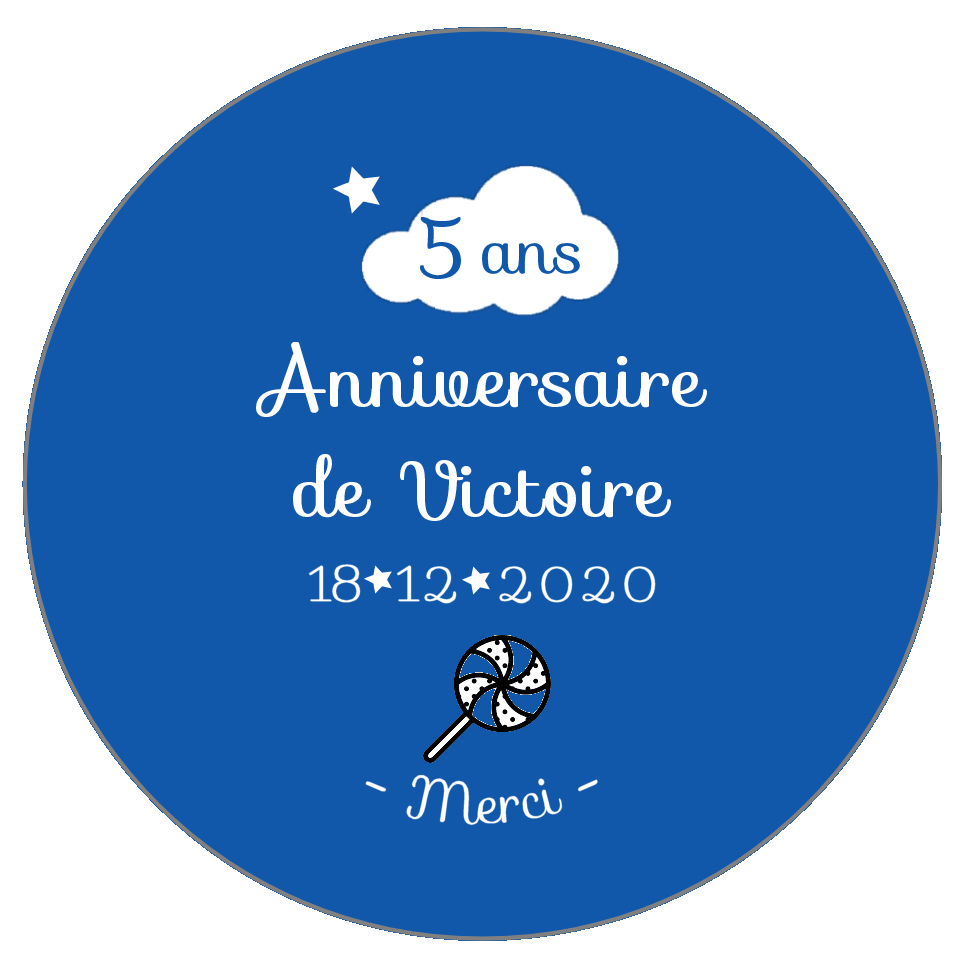 badge anniversaire nuage