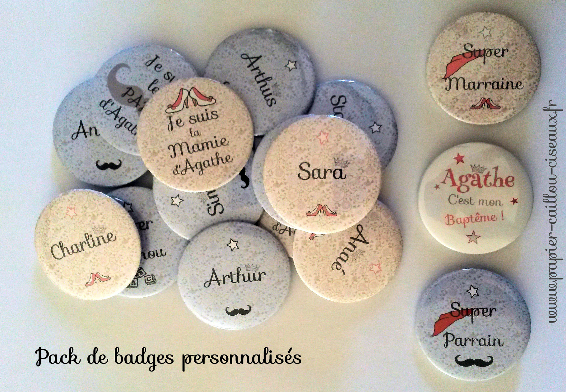 Pack magnets Baptême Liberty