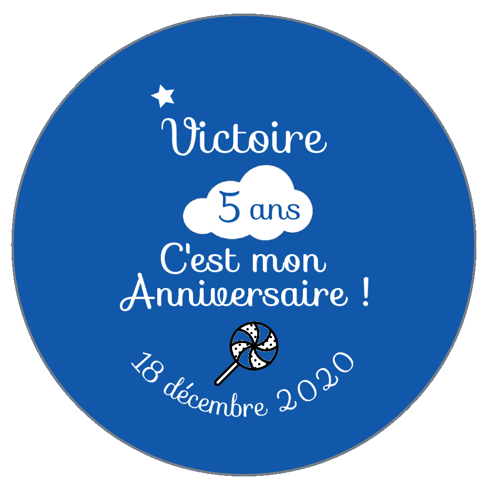 badge anniversaire