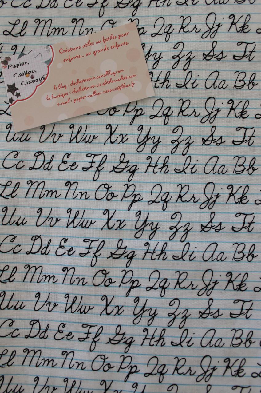 Ligne d'écriture blanc