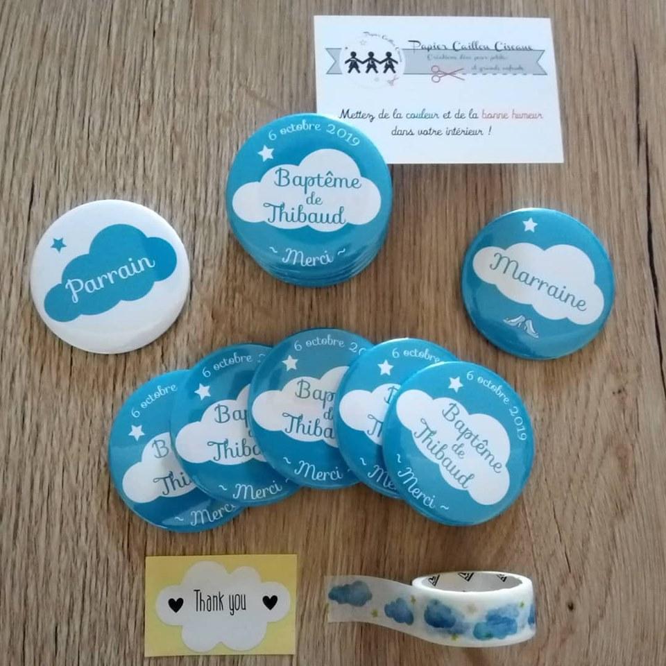 Pack magnets Baptême nuage