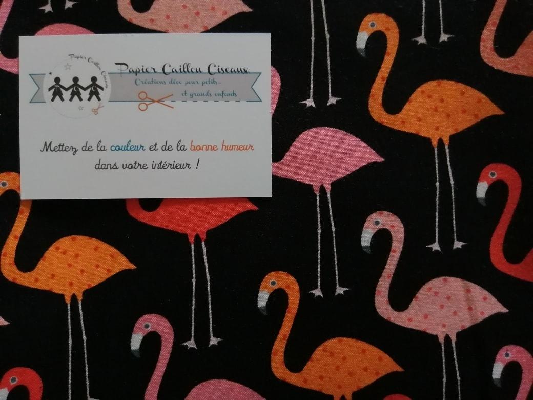 *nouveau* Flamingo fond noir