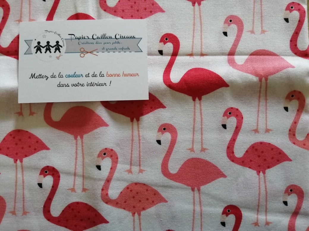*nouveau* Flamingo fond blanc