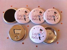 magnets badges logo personnalisés