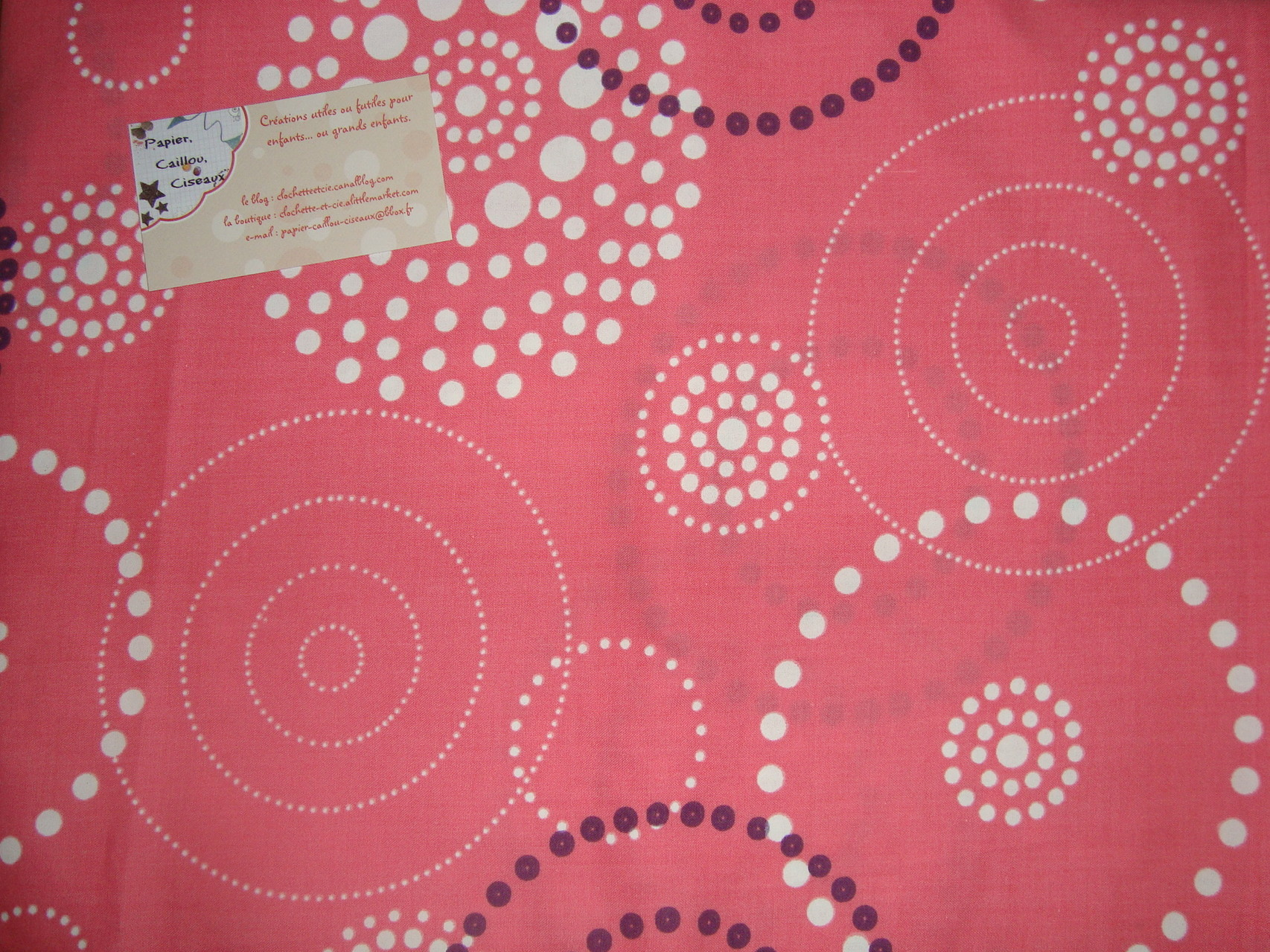 Cercles et Spirales fond rose