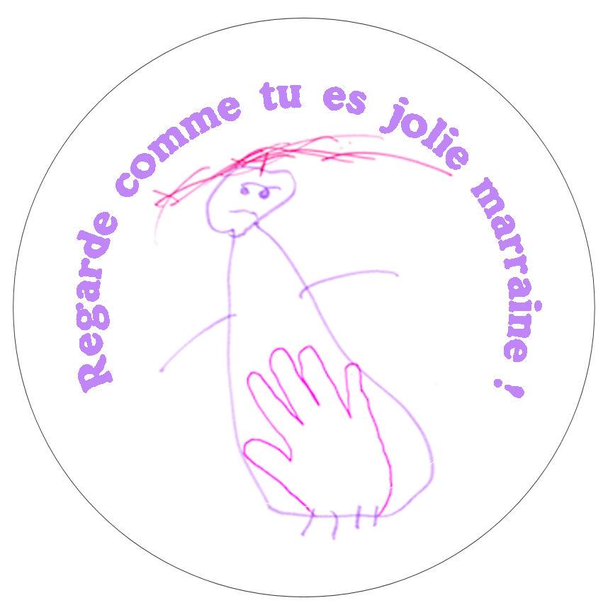 badge magnet miroir décapsuleur personnalisé dessin d'enfant