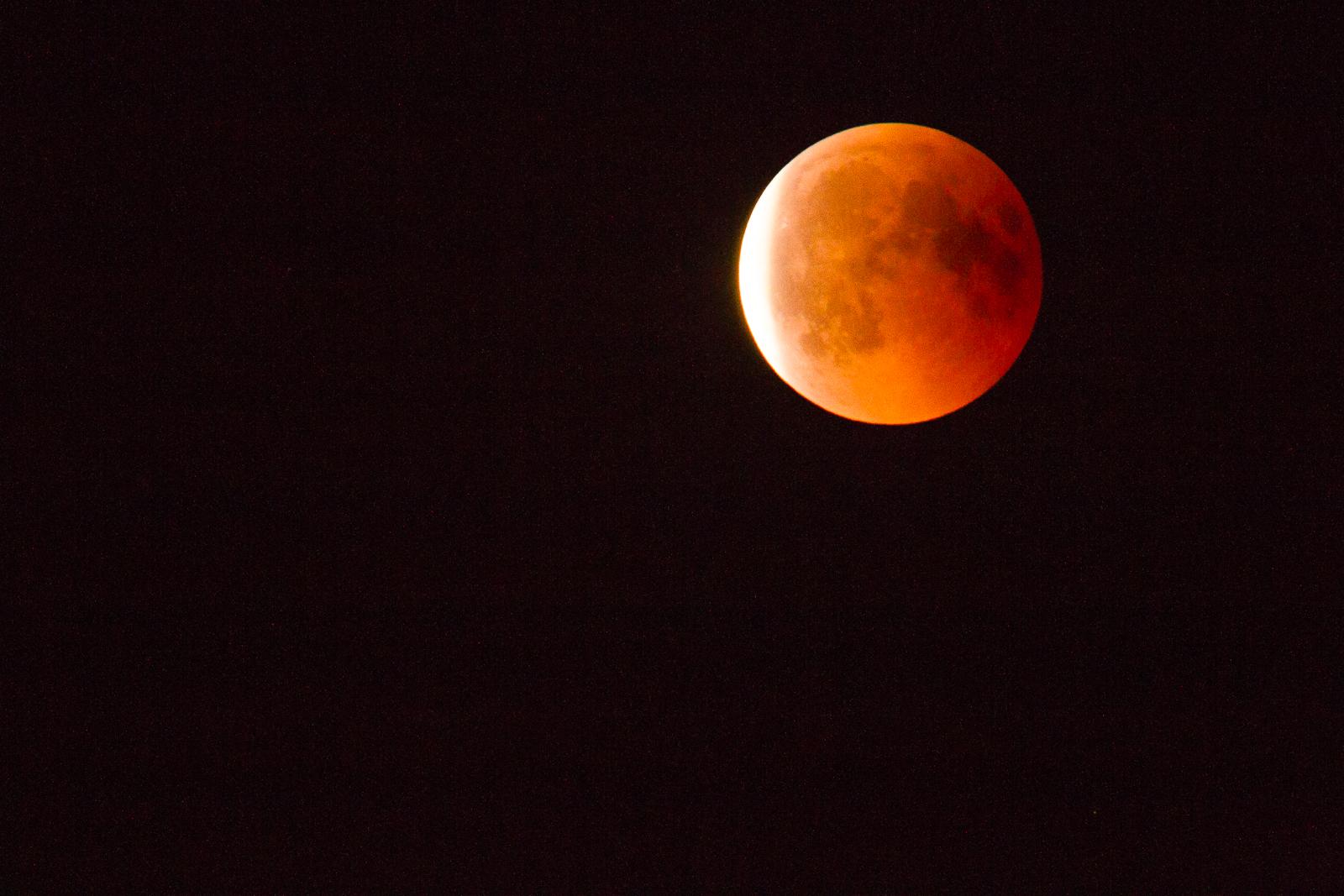September 2018 - Etwas verspätet die Mondfinsternis über Büttelborn vom 27. Juli 2018