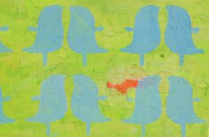 """greenbirds"" / Detail / 2016 / Carla Graupe"