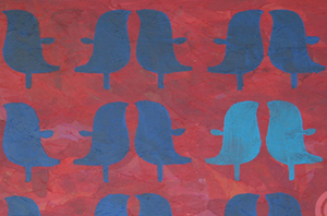 """""""vogelpaar"""" / Detail / 2016 / Carla Graupe"""