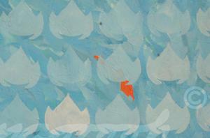 """flowerfish"" / Detail / 2016 / Carla Graupe"