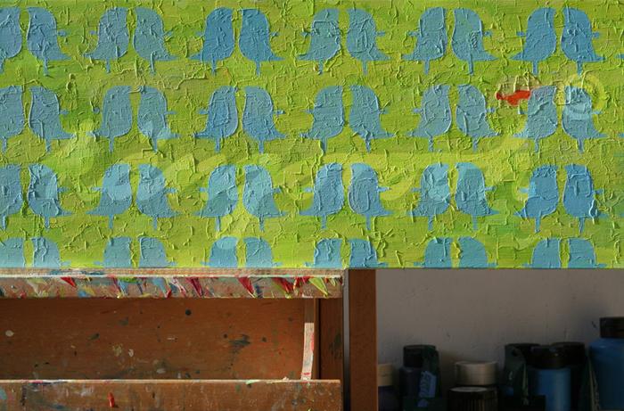 """greenbirds"" / Detail 2 / 2016 / Carla Graupe /"