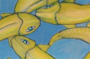 """urfa in blue"" /Detail / 2015 / Carla Graupe"