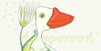 """Postkarte: """"die drei freunde"""" / Detail 1"""