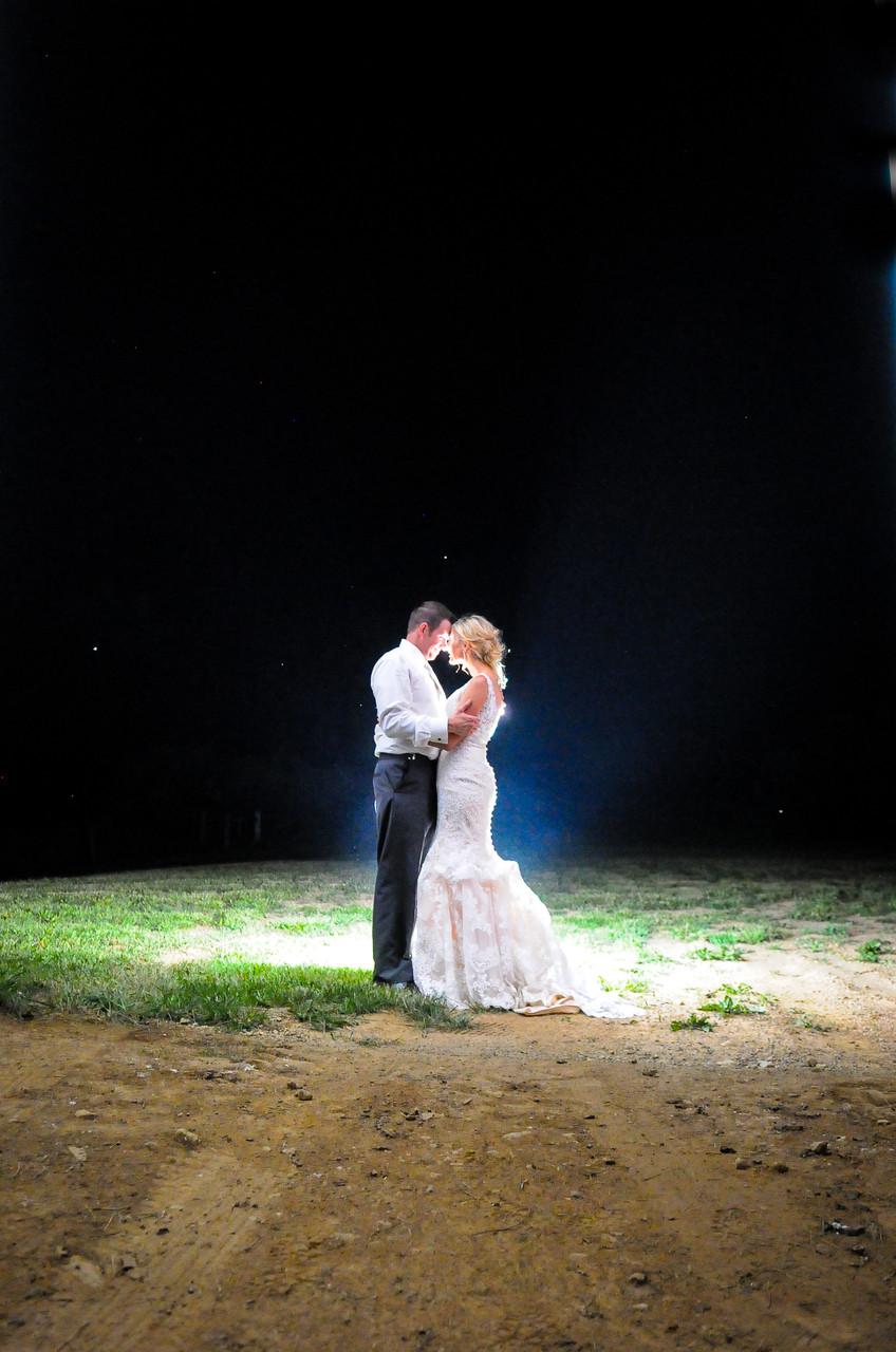 Columbus Ohio Farm Wedding night lighting outside pole barn