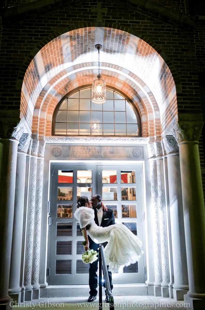 Liz and Ty's Wedding night photo at St. Charles Preparatory School Bexley, Ohio