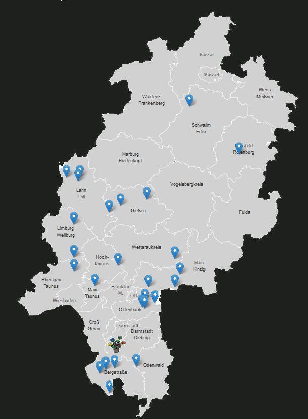 Übersichtskarte von Ownerstandorten