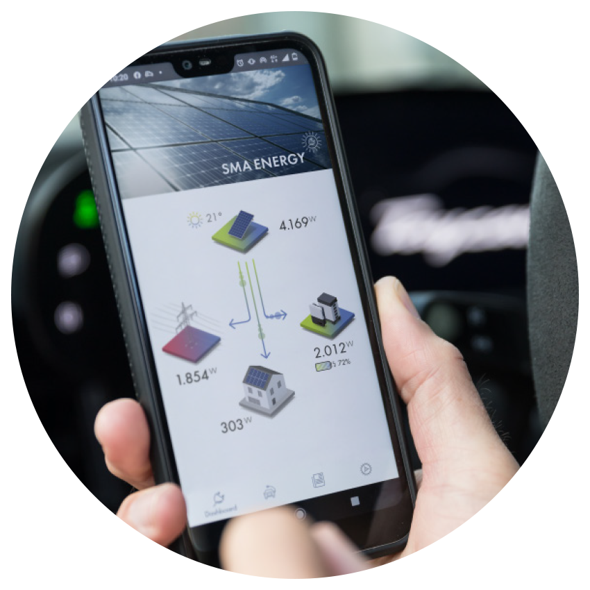 Die neue SMA Energy App von SMA