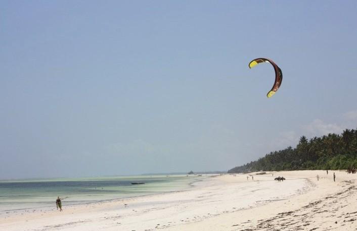 Kiting in Zanzibar