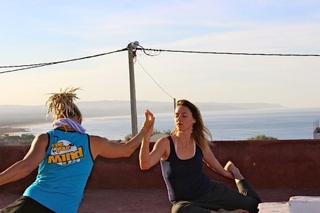 Yoga and kitesurf