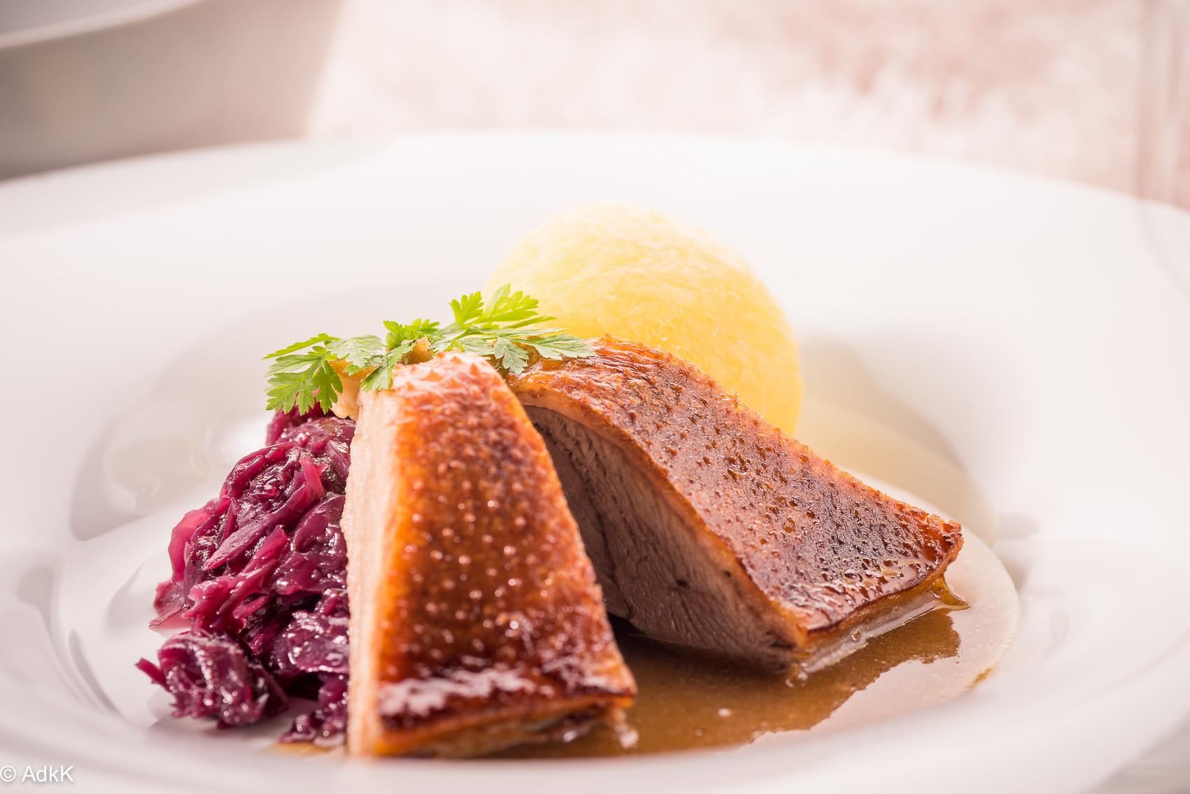 """Food-Fotografie Weihnachtsgans, aufgenommen beim """"Gans einfach"""" Kochkurs am 14.11.2015"""