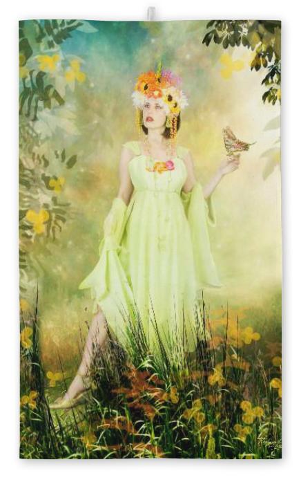 """Ravienne Art Model - Handtuch """"Blumenfrau"""""""