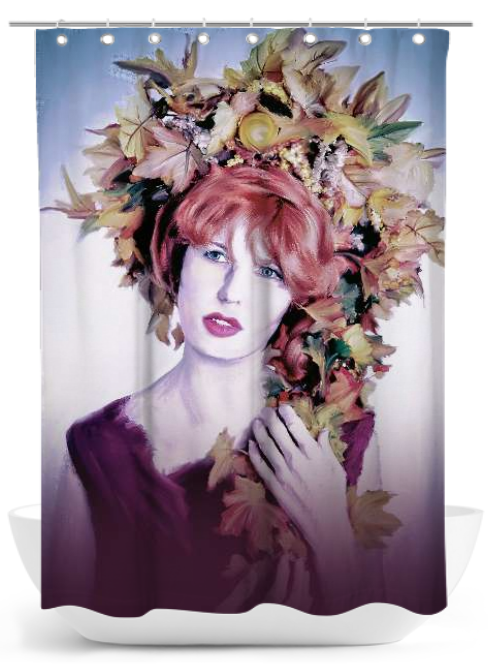 "Ravienne Art Model - Duschvorhang ""Herbstschmuck"""