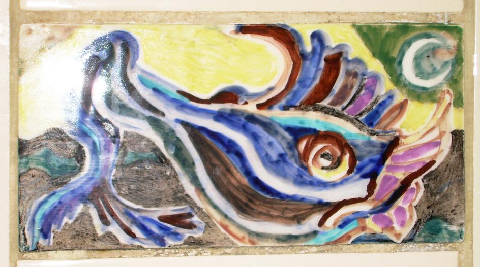 Keramik von Bettina Heinen-Ayech als Ornamente im Roten Haus