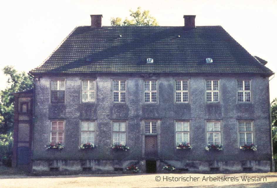 Rittergut Hause Ahse kurz vor dem Abriss, 1965