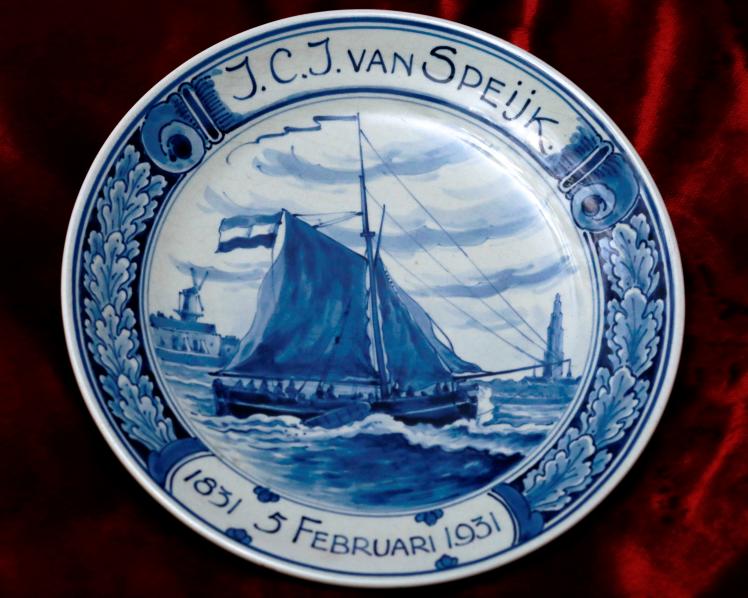 Gedenkteller zum 100. Todestag von Van Speijk, 1931