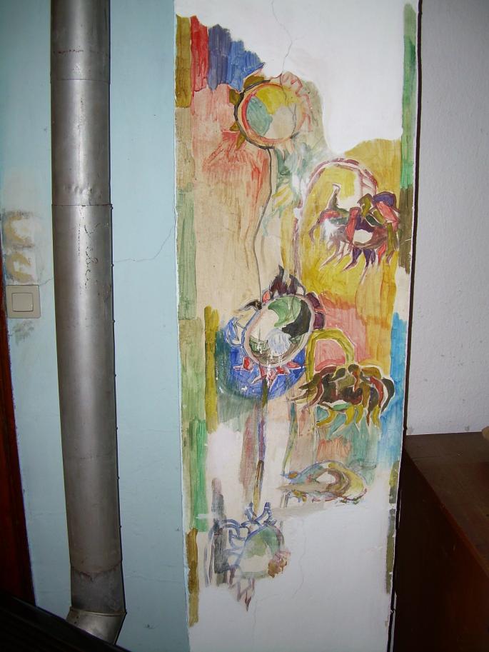 Fresko im Atelier Raum des Roten Hauses (Bettina Heinen-Ayech: 1937-2020)