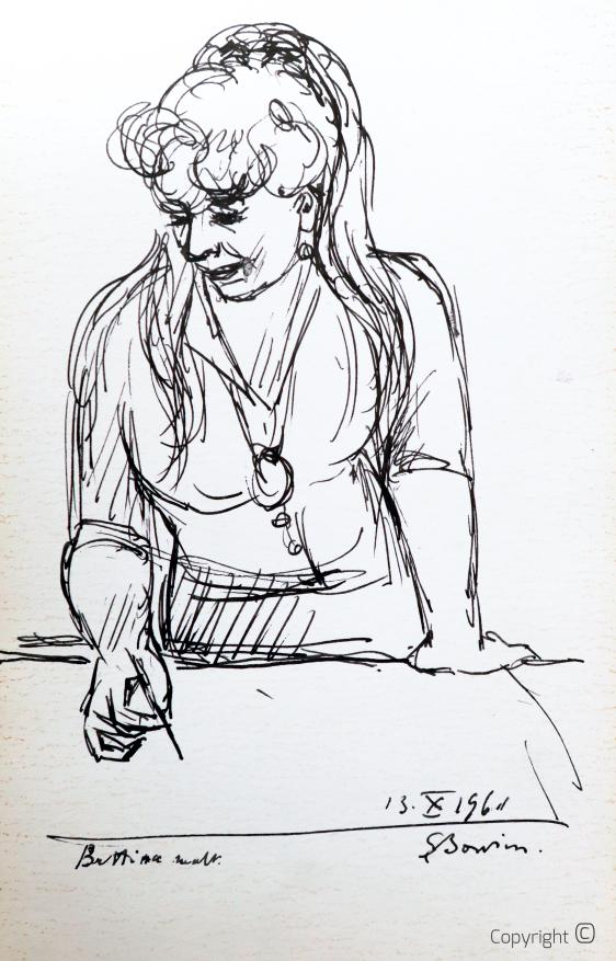 Erwin Bowien (1899-1972) – Bettina malt, 1991