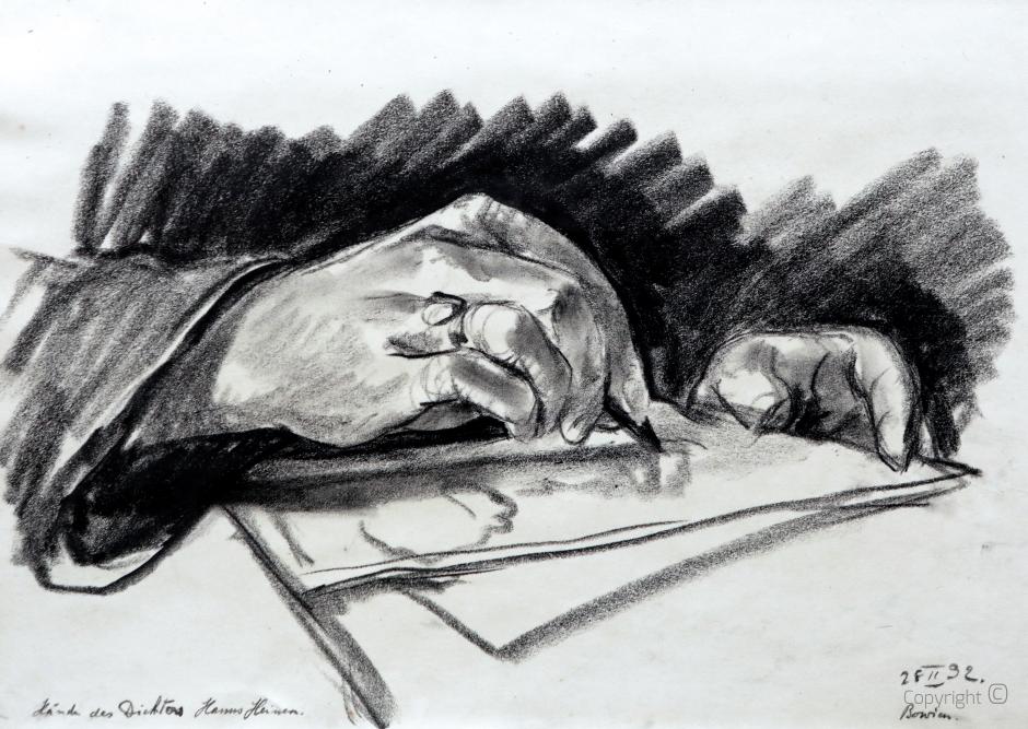 Erwin Bowien (1899-1972) - Die Hände des Dichters Hanns Heinen, 1932