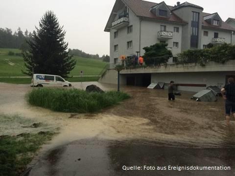 Überschwemmung vom 14. Juli 2015 in Wil (SG)
