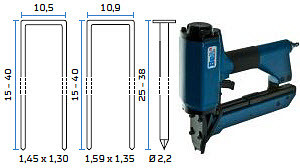 Kombinirana pneumatska klamerica - pneumatski alat za klamerice i T-čavle BeA 14/38-152