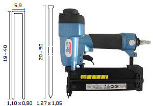 Kombinirana pneumatska klamerica - pneumatski alat za klamerice i čavliće BeA Combi 229