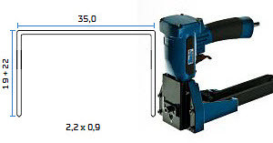 Pneumatska klamerica - pneumatski alat za klamerice BeA AT-A-22