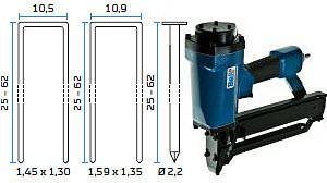 Kombinirana pneumatska klamerica - pneumatski alat za klamerice i T-čavle BeA Variant 806